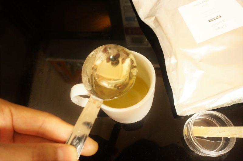 電子レンジでシアバタークリーム作ってみた