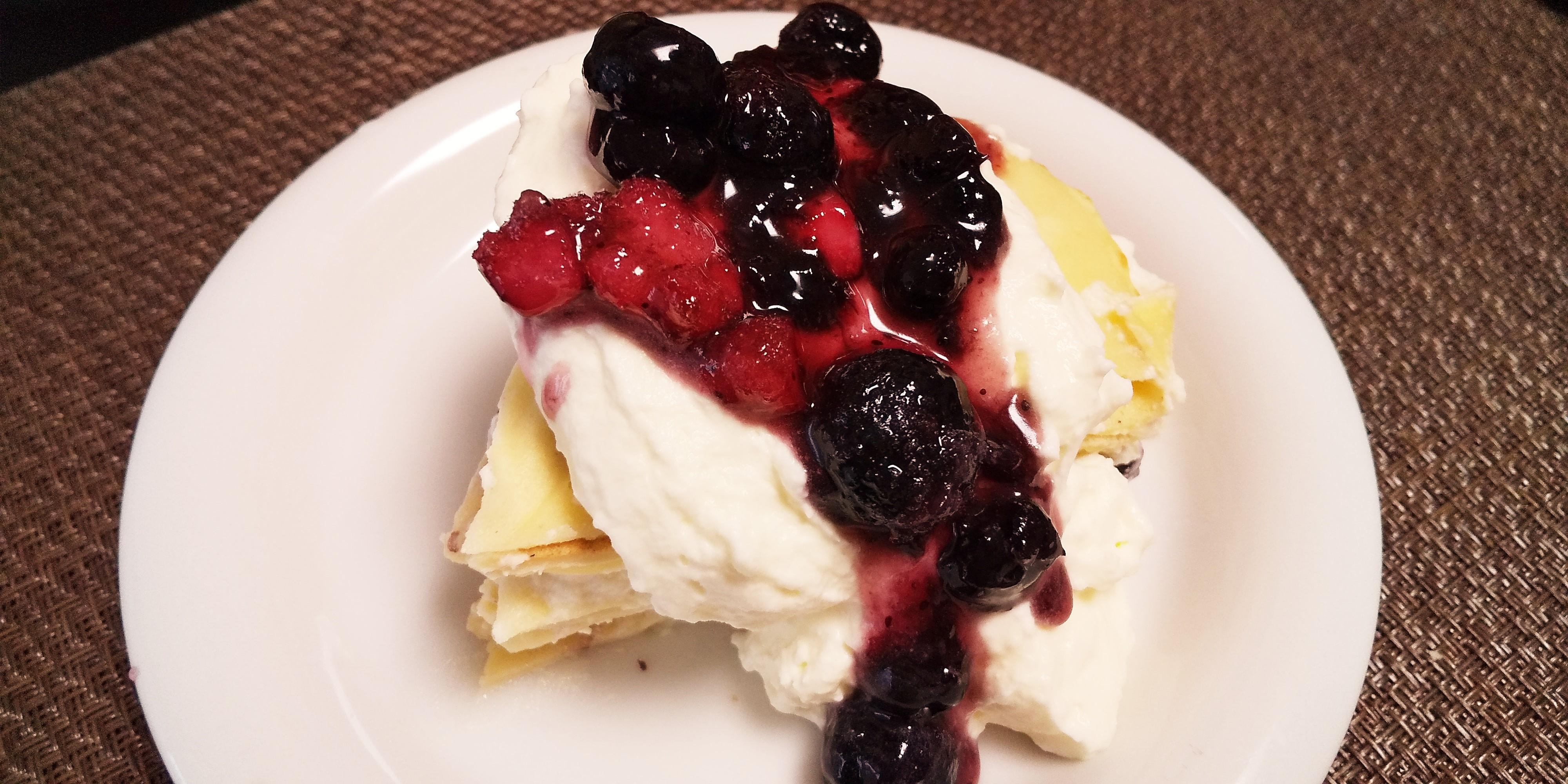 砂糖なしクリームで糖質オフのミルクレープ